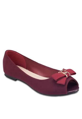 露趾蝴蝶結平底鞋zalora退貨, 女鞋, 鞋