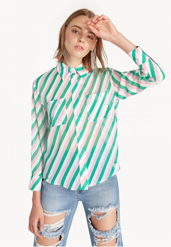 3f358079ab267 Buy Pomelo Candy Striped Button Up Shirt Online on ZALORA Singapore
