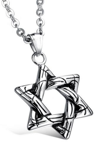 Trendyshop silver Six Angles Star Necklace TR116AC2VUGUHK_1