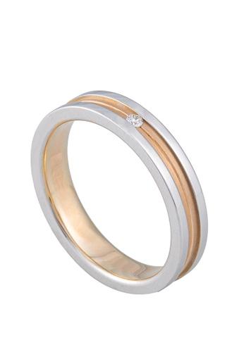 LITZ white LITZ 18K White Gold & Rose Gold Diamond Men Ring PJ-MR0087M 9CB14ACAFD43F3GS_1
