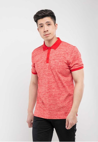 FOREST red Forest Two Tone Slim Fit Polo - 23086 Red 10962AAB04A2A7GS_1