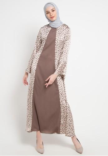 Aira Muslim Butik multi and brown Julia Dress 1376EAA8C3ED46GS_1
