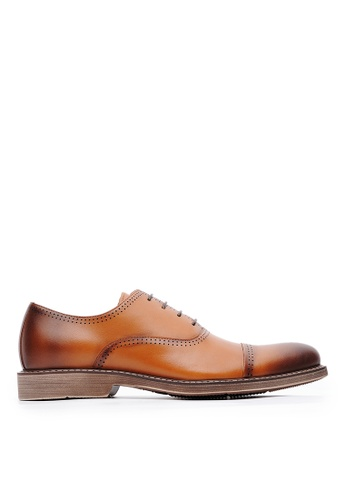 Life8 brown Formal Pointy-Toe Leather Shoes-09887-Brown 43C48SHCDC0E18GS_1
