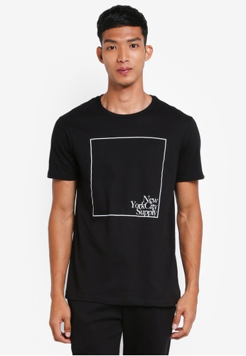 Cotton On 黑色 短袖印花T恤 60F4AAAB9C8330GS_1