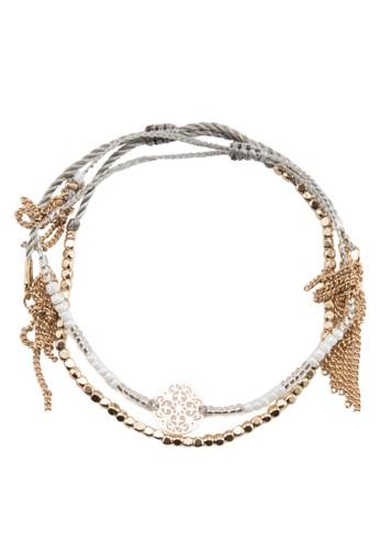 Sterparesprit 中文one 二入流蘇串珠手環, 飾品配件, 飾品配件