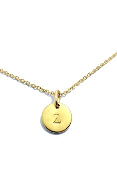 Stainless Steel Stamped Coin Necklace