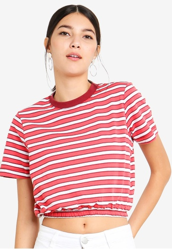 Cotton On red Ivy Short Sleeve Waisted Tee C6992AA363384EGS_1
