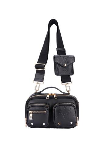 Louis Vuitton black Pre-loved Louis Vuitton Utility Crossbody Noir 9BF5EAC4C05CEAGS_1