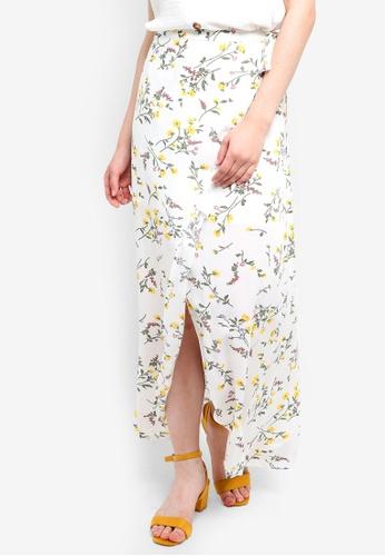 Something Borrowed white Maxi Wrap Skirt 1010CAA6FE8EF0GS_1