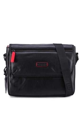 Playboy black Sling Bag 96069AC98D574DGS_1