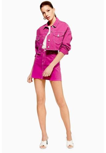 354de1845c Shop TOPSHOP Purple Denim Skirt Online on ZALORA Philippines