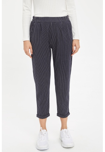 DeFacto 海軍藍色 Woman Woven Bottom Trousers 2AF26AA8305B14GS_1
