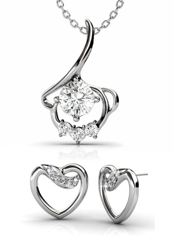 Her Jewellery silver Swarovski® Zirconia - Angel Set (18K White Gold Plated) Her Jewellery HE581AC82JZLMY_1