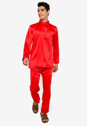 REALFANTASY red BAJU MELAYU SHAH ISKANDAR B90B1AA021C9CDGS_1