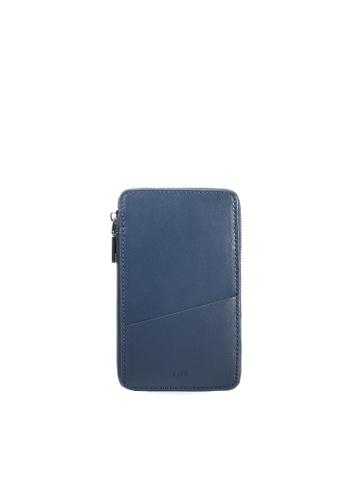 Life8 Formal Leather Duffle Bags Phone Case-06366-Blue LI283AC0FNV8SG_1