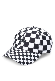 978a4f32 VANS black and white Court Side Printed Cap 59431AC73526AAGS_1