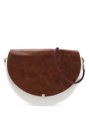 Hoola Hoola white Chiara Saddle - Eggshell White Vintage Leather with Wine strap 30B83AC5D777F0GS_1