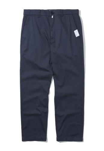 izzue navy Basic chino pants 0D39CAA9FA49E2GS_1