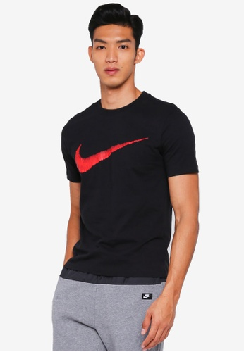 Nike black As M Nsw Hangtag Swoosh As Tee 1C004AAFA93246GS_1