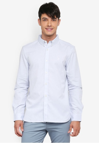 French Connection blue Classic Soft Oxford Shirt E4E88AA3156D34GS_1
