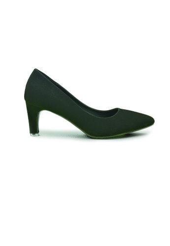 SHINE black Slip On Point Toe Pumps SH554SH0G1S2SG_1
