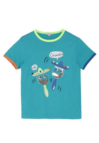 DU PAREIL AU MÊME (DPAM) blue Trim Sleeve T-Shirt 94444KA0D2D769GS_1