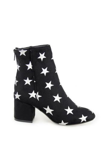 London Rag black Star Design Ankle Boots 82498SH1D6DD34GS_1