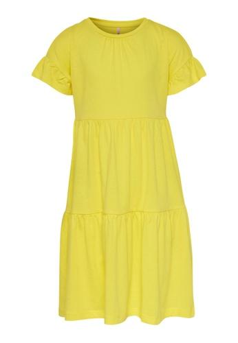 ONLY yellow Tenna Short Sleeve Dress D604EKA5E8F9FAGS_1