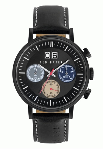 TED BAKER black Ted Baker Men's 10023471 Chronograph Black Leather Watch TE877AC0S7GOMY_1