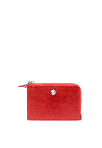 Enjoybag red Alice Leather Multifunction Wallet EN763AC2VPCBHK_1