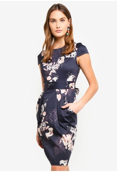 b5d48a1bf00ae CLOSET navy Tulip Tie Back Dress F86AEAA143A2C0GS 1