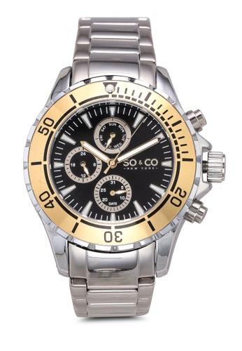 SO&CO silver YachtTimer Watch 5038 67912AC695A79BGS_1