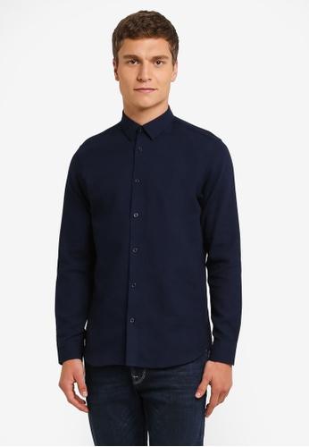 Selected Homme 海軍藍色 Long Sleeve Shirt SE364AA0RMD0MY_1
