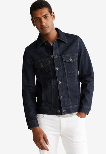 Mango Man 藍色 Soft Wash Denim Jacket 8B4E7AA84F1CC4GS_1