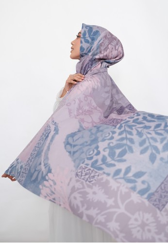 Harra Scarves pink and purple and multi Orchid Series - Lilac 00962AAAD1644DGS_1