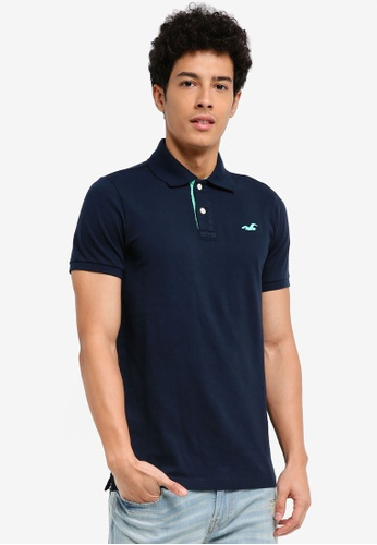 Hollister navy Solid Core Polo Shirt 1EA30AAD14B7F1GS_1