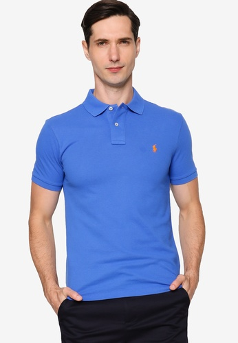 Polo Ralph Lauren 藍色 Slim Fit Short Sleeve Polo Shirt 45904AA304D607GS_1
