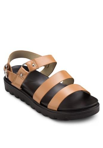 寬帶尖沙咀 esprit outlet扣環繞踝厚底涼鞋, 女鞋, 涼鞋