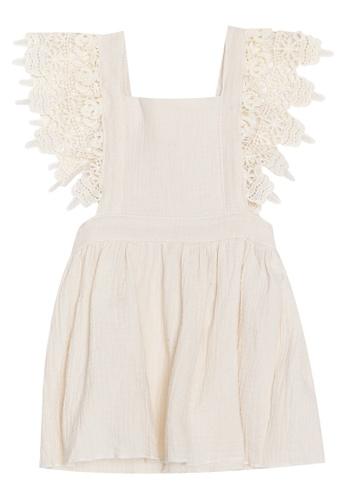 RAISING LITTLE white Darla Lace Detail Dress B4E23KA7169620GS_1
