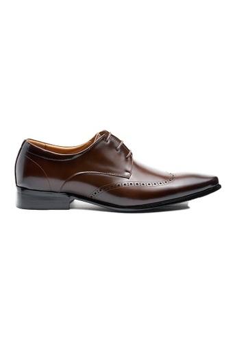 Kings Collection 褐色 科爾貝塔牛津鞋 4FAB0SH8A06C1AGS_1