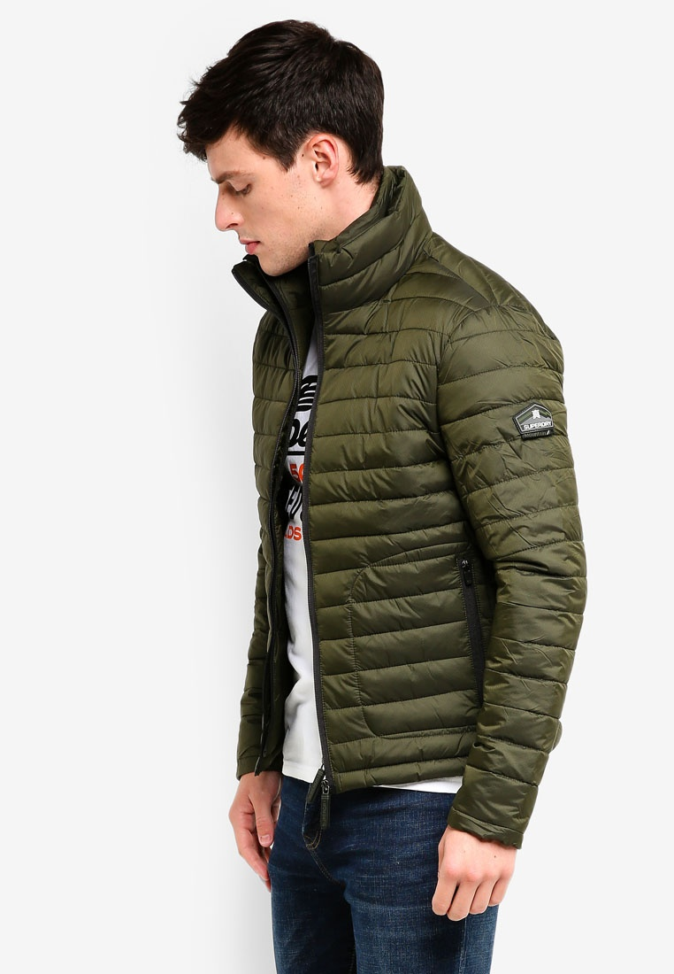 Superdry Double Zip Jacket Olive Fuji 8wCTR7