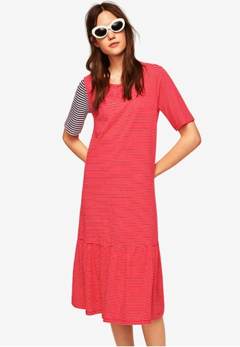 Mango red Striped Cotton Dress 18B45AA5E8D52AGS_1
