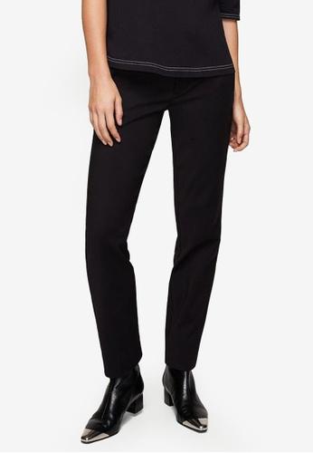 Mango black Contrast Trim Trousers 1BF89AAE40F87BGS_1