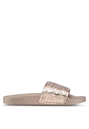 Slydes gold Chance Sandals 1CE4ESH4F4320FGS_1