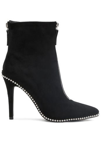 London Rag 黑色 黑色拉链高跟靴 SH1786 B589ESHEB74B0DGS_1