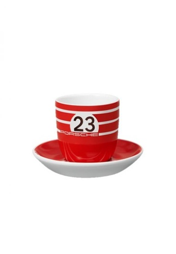 Porsche Driver's Selection red Porsche Espresso Coffee Cups 917 Salzburg Collection Cup Set Two Pair Red White 49DC0HLBDB5152GS_1