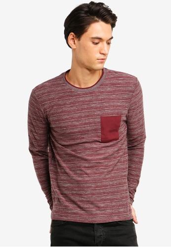 ESPRIT 紅色 Long Sleeve T-Shirt 3D5F1AA9B2844AGS_1