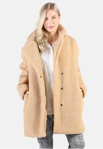 London Rag brown Long Teddy Coat 302D8AAB76D4DEGS_1