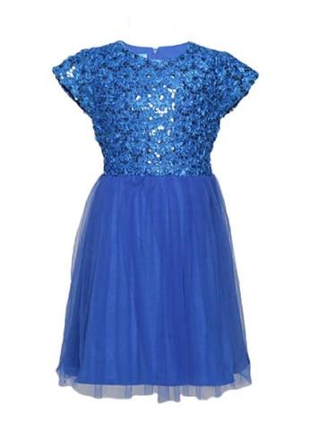 Versail blue Versail Enfant Dress Brukat Tile Payet F2944KA74E6373GS_1