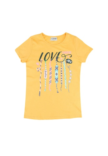 LC Waikiki orange Girl's Printed Cotton T-Shirt F1965KA123F8DFGS_1